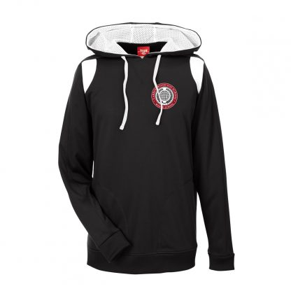 Team-365-Mens-Elite-Performance-Hoodie-in-Black-CDS-Globe-Logo