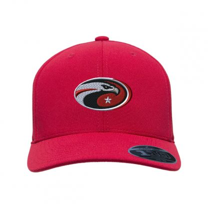 Team-365-by-Flexfit-Adult-Cool-Dry-Mini-Pique-Performance-Cap-in-Sport-Red-CDS-Eagle-Logo