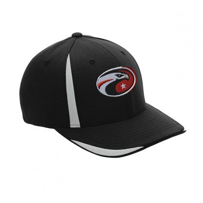 Team-365-by-Flexfit-Adult-Pro-Formance-Front-Sweep-Cap-in-Black-CDS-Eagle-Logo