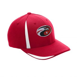 Team-365-by-Flexfit-Adult-Pro-Formance-Front-Sweep-Cap-in-Sport-Red-CDS-Eagle-Logo